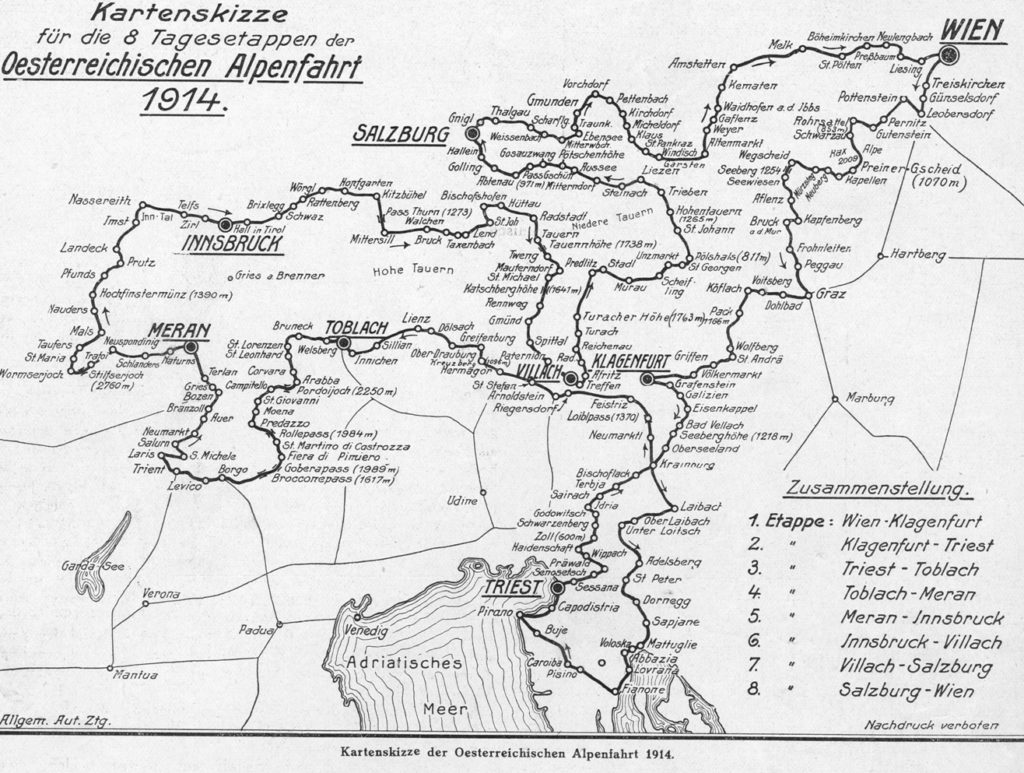 Alpská jízda 1914