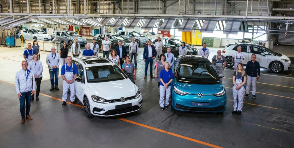 Výroba ve fabrice Volkswagen Cvikov
