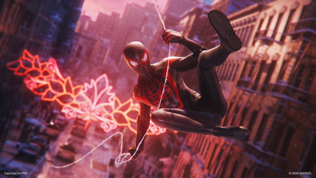 Spiderman na Playstation 5