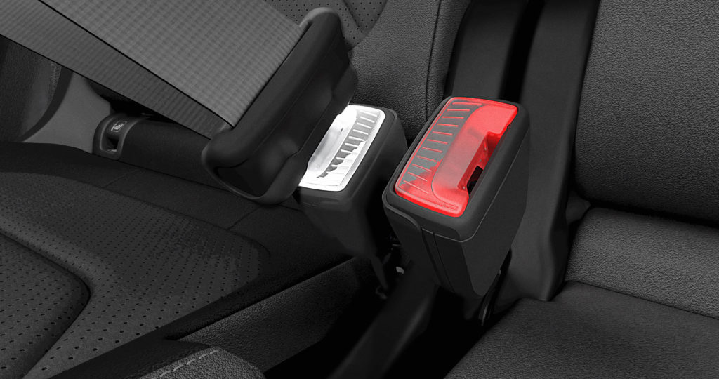 Patent má Škodovka také na osvětlené zámky bezpečnostních pásů