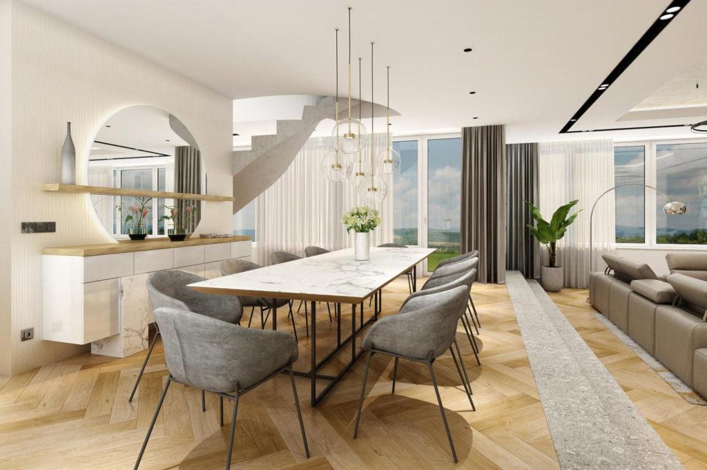 Interiérový design - jídelní stůl