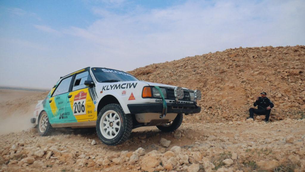 Ondřej Klymčiw a jeho Škoda 130 LR na Dakaru