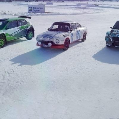 Škodovky - jízda na sněhu a ledu