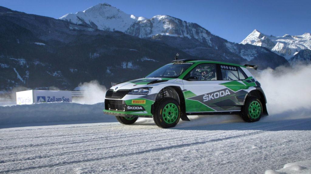 Škoda Fabia Rally2 evo je na sněhu jako doma