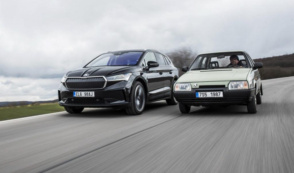 Škoda Favorit versus Škoda Enyaq